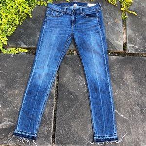 Rag & Bone Skinny Frayed Eyelash Hem Dre Jeans